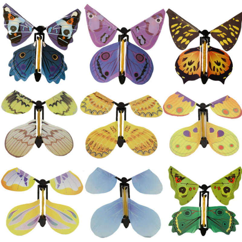 5 Pcs/set Creative Magic Toys Hand Transformation Fly Butterfly Magic Tricks Props Funny Novelty Surprise Prank Toys