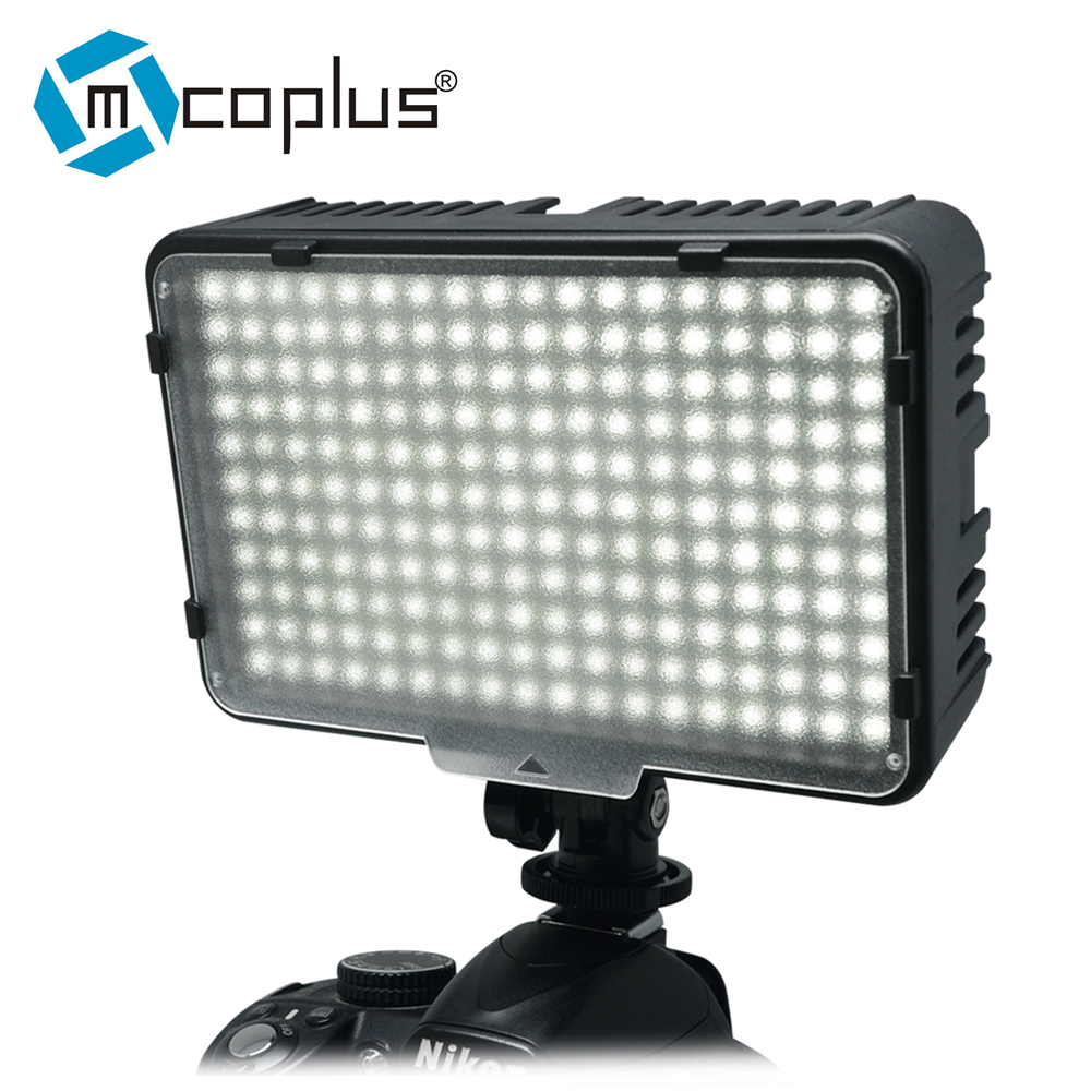 Mcoplus 198 LED Video Photo Light Verlichtingsarmatuur voor DV-camcorder & Canon Nikon Pentax Sony Panasonic Olympus digitale SLR-camera's