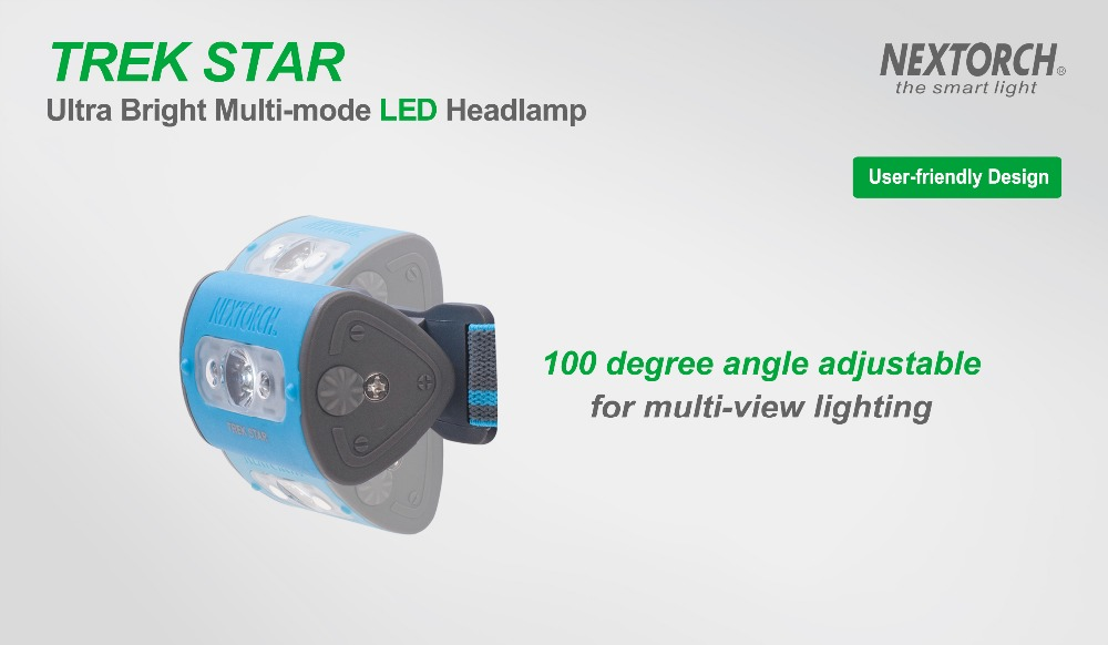 NEXTORCH 220 Lumens Ultra Bright Multi-Mode LED Headlamp Blue