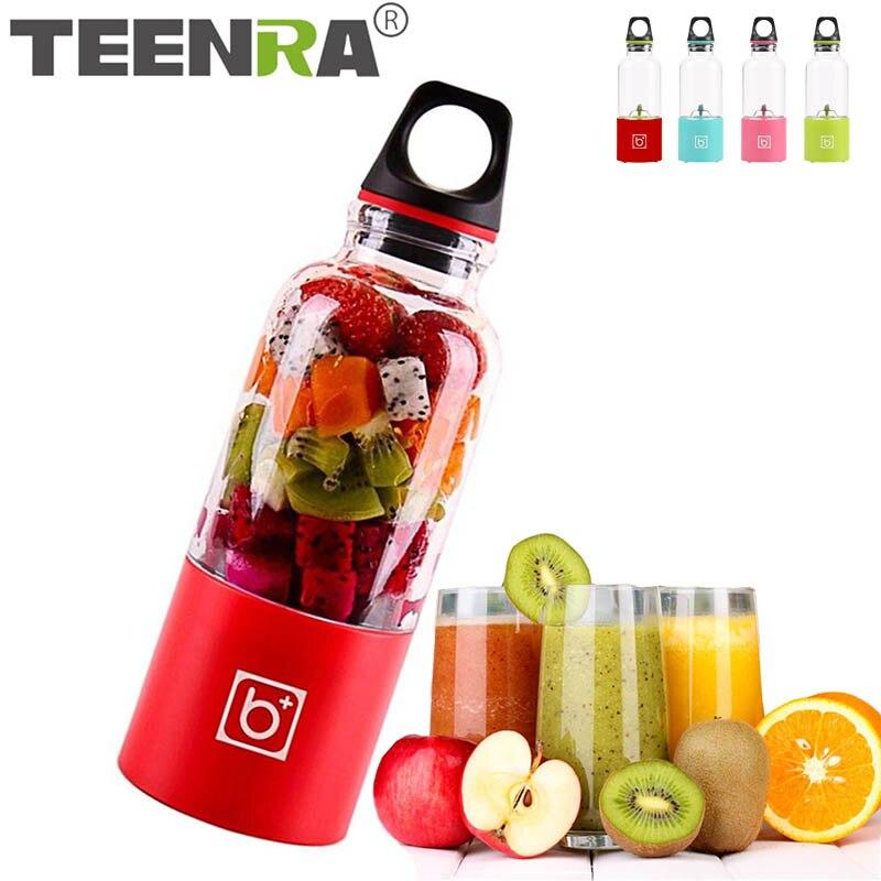 TEENRA 500 ml Mini Portable Fruits Électrique Presse-agrumes USB Bouteille Centrifugeuse Rechargeable Orange Citron Presse-agrumes Bouteille Outils De Fruits