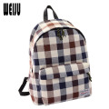 2016 New Fashion Canvas women backpack bags British Style High Quality Plaid Travel Bags Casual School Bags 7.6-200