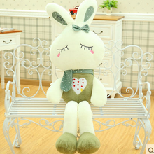 big bow squinting blackish green rabbit toy huge rabbit doll gift about 120cm