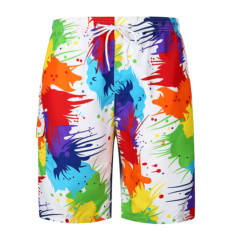 Shorts Mens Bermuda 2018 Summer Colourful Printing Men Beach Hot Cargo Men Boardshorts Male Brand MenS Short Casual Fitness