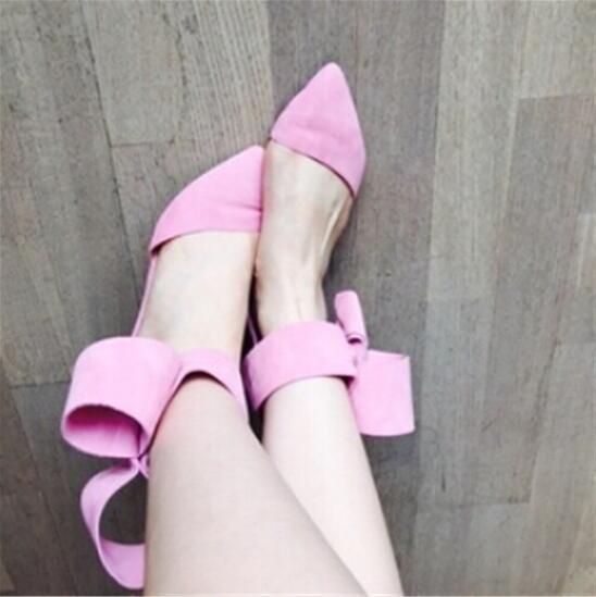 Gran Bowtie Corbata de tobillo Sandalias de gladiador Mujeres Rojo - Zapatos de mujer - foto 4