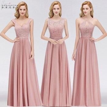 4862575964 144.52 zł. Vestido Madrinha różowy koronki długie suknie ...