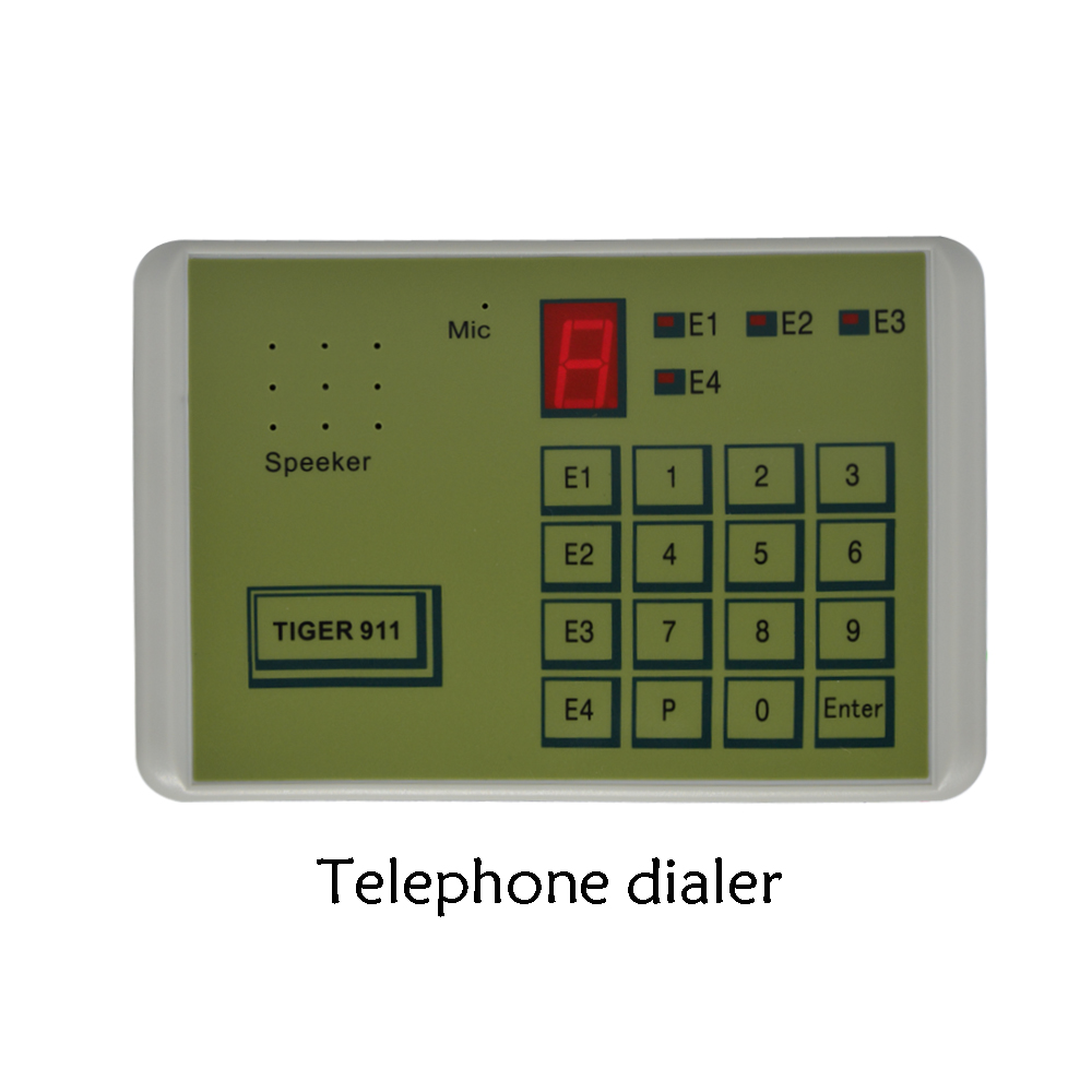 (1 PCS) Tiger 911 Auto telephone Dialer Alarm system accessories Calling Transfer Tool Fixed Terminal put in NC NO or voltage