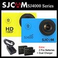Sjcam sj4000 & wifi sj4000 câmera de ação 1080 p hd 30 m Vídeo à prova d' água Esportes DV SJ Cam 4000 + Extra 2 pcs bateria + Dual carregador