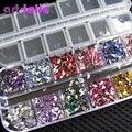 ¡ Nuevo!!! 3000 Unids Color de La Mezcla de la Lágrima Nail Art Gemas de los Rhinestones Deco Glitters Hermosa Decoración Del Clavo Etiqueta Engomada