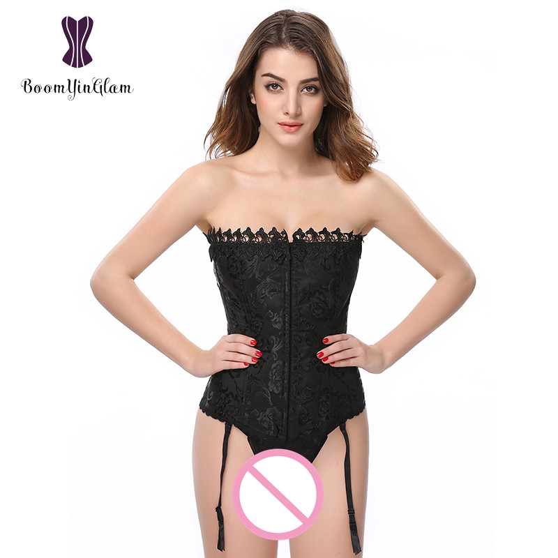 Wholesale 3 hooks Women Corset Slimming Waist Affinant Appliques Shapewear Bodysuit White And Black Corsets For Wedding 895#