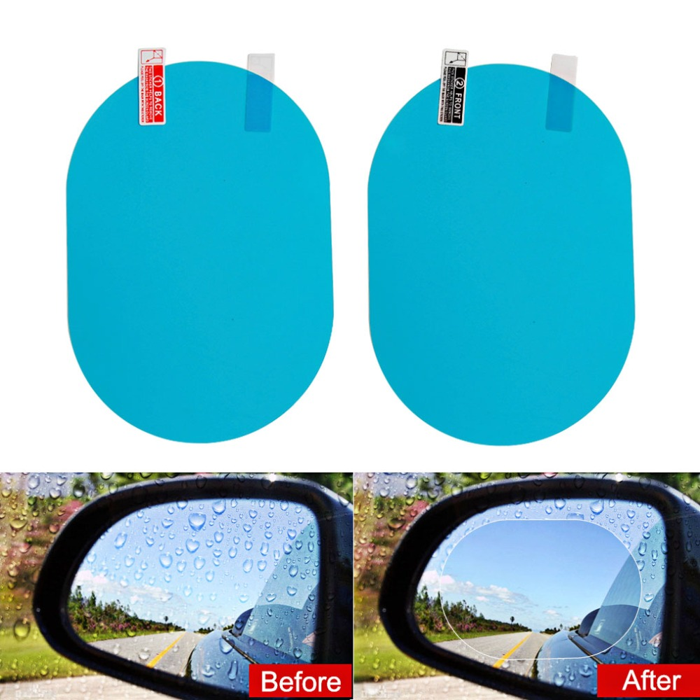 Car anti Fog Rainproof Hydrophobic Rearview Mirror Film For Toyota Corolla Camry Prado Avensis Yaris Hilux Prius Land Cruiser-in Car Tax Disc Holders from Automobiles & Motorcycles