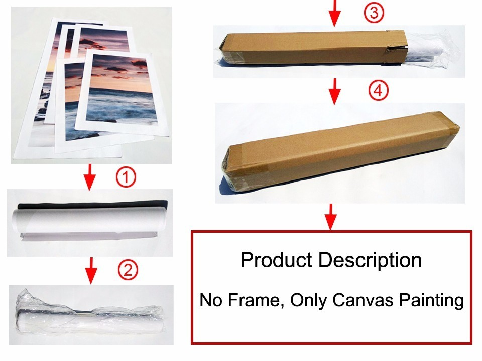 Unframed 5 pcs Canvas Painting Posters Flower Modern Decoracion Wall Pictures For Living Room Top rated Modular Picture FA235 in Painting Calligraphy from Home Garden