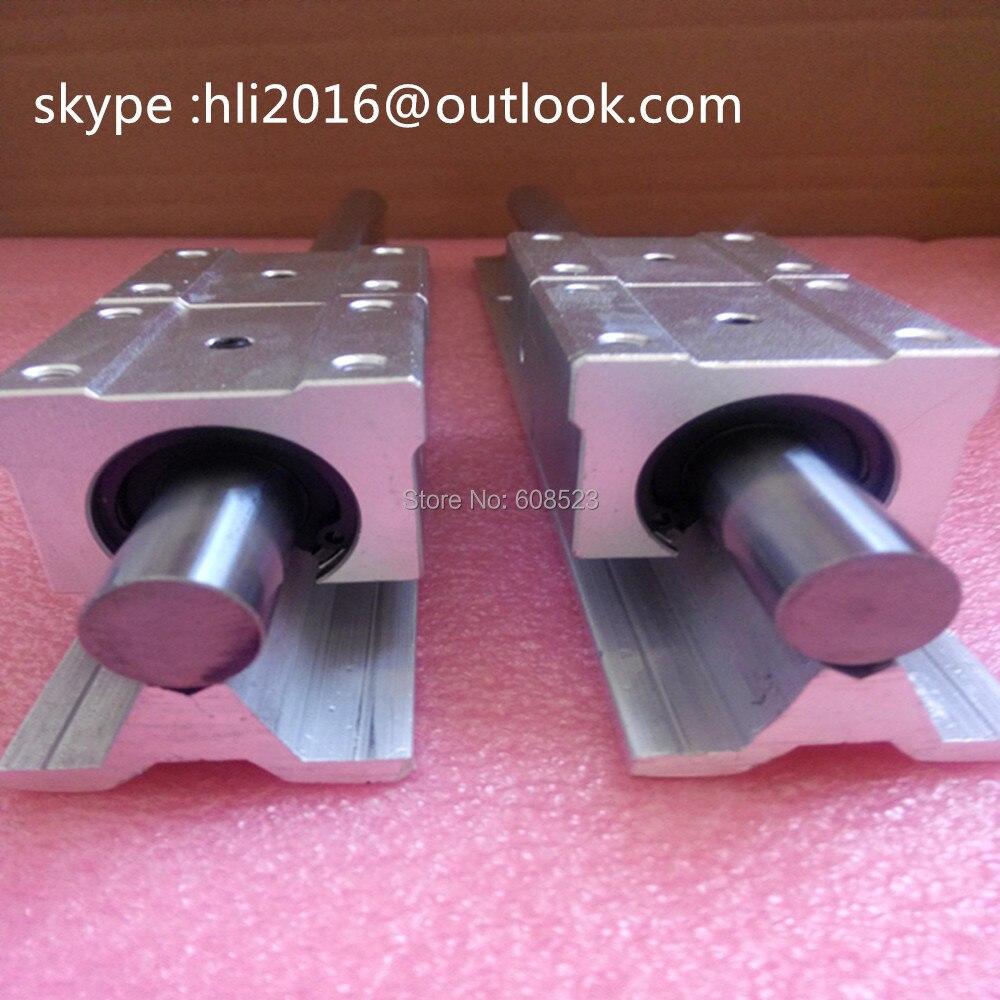 2pcs SBR16 L 1300mm Linear Rails + 4pcs SBR16UU Linear Motion Bearing Blocks