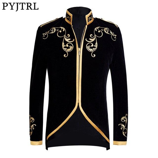 British Style Palace Prince Fashion Black Velvet Gold  1