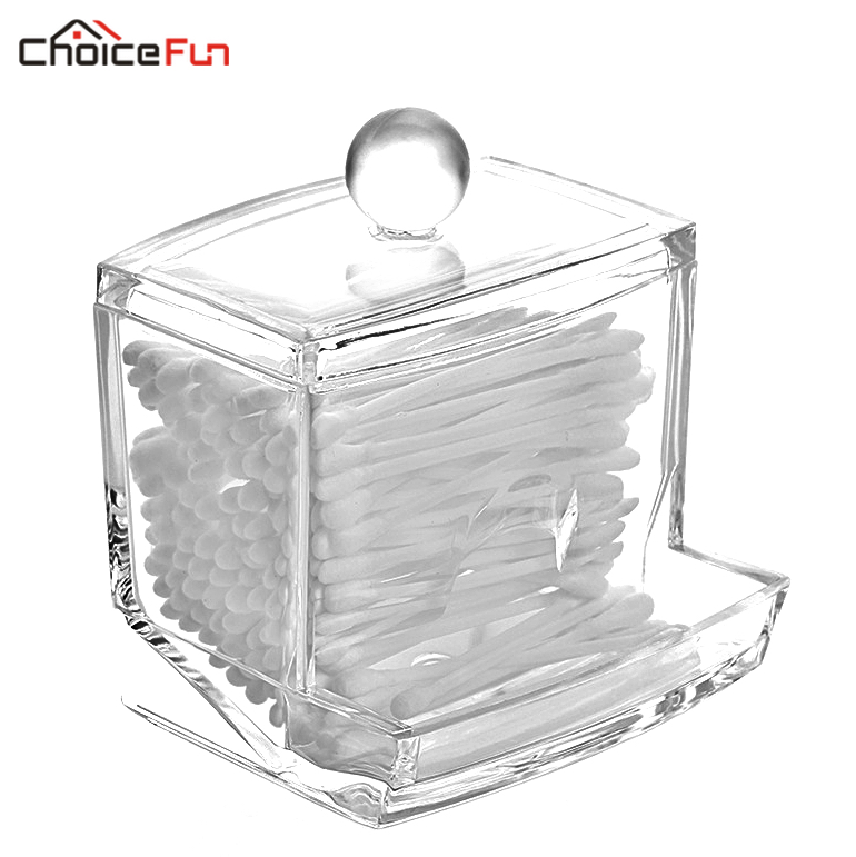 Choice Fun Small Clear Acrylic Bathroom Storage Q Tip