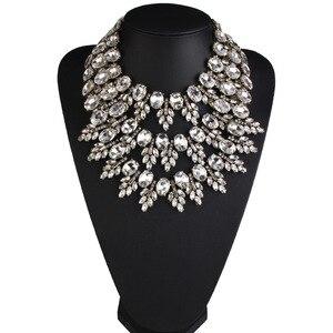 Image 3 - חדש הגעה נשים קריסטל קולר פנינה חרוזים Boho קולייר Femme רב שכבתי הצהרת צווארון מקסי שרשרת אופנה תכשיטי חתונה