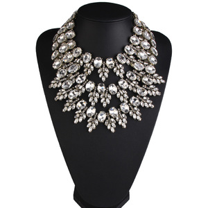 Image 3 - New Arrival Women Crystal Choker Gem Beads Boho Collier Femme Multilayer Statement Collar Maxi Necklace Fashion Wedding Jewelry