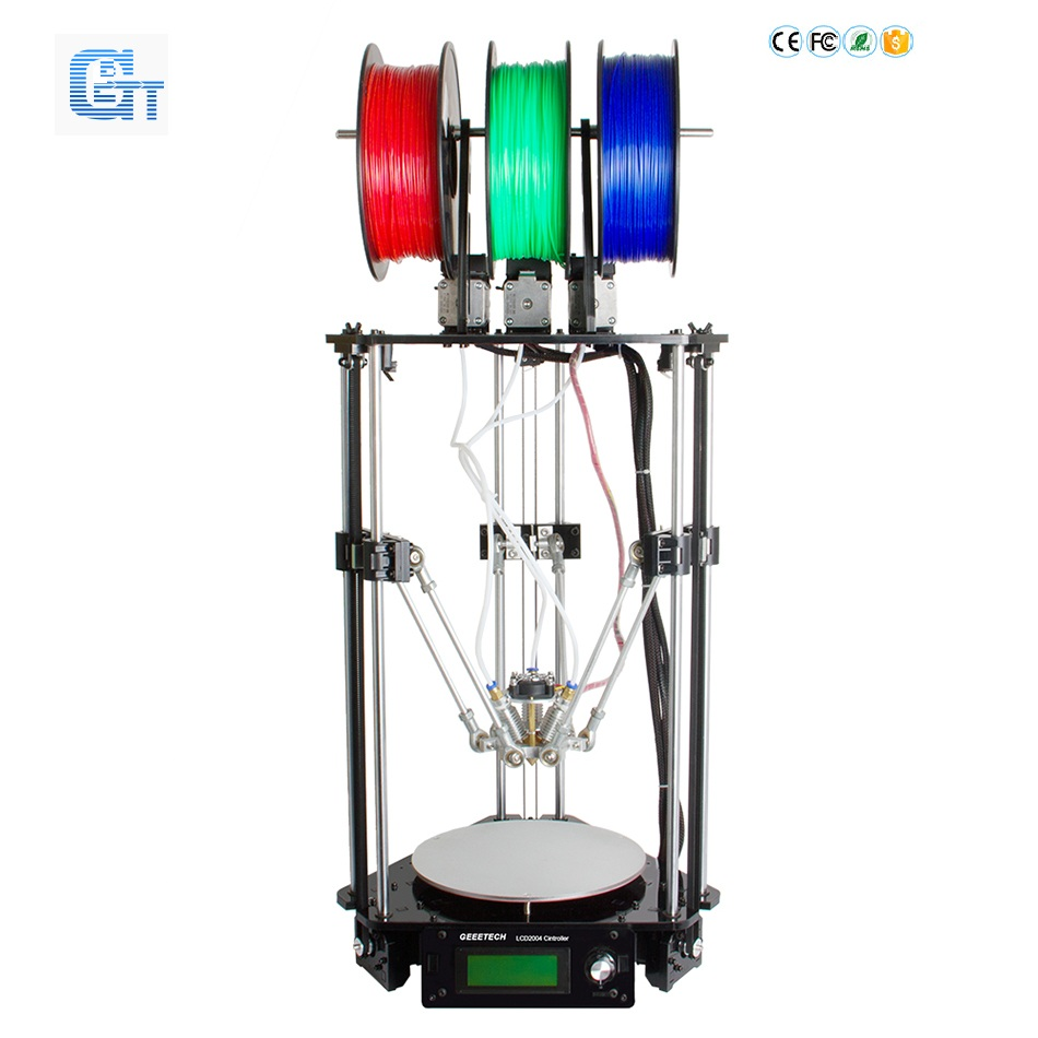 Ship From DE Geeetech 3D Printer Delta Rostock 301 Diamond 3 in 1 out Extruder Updated