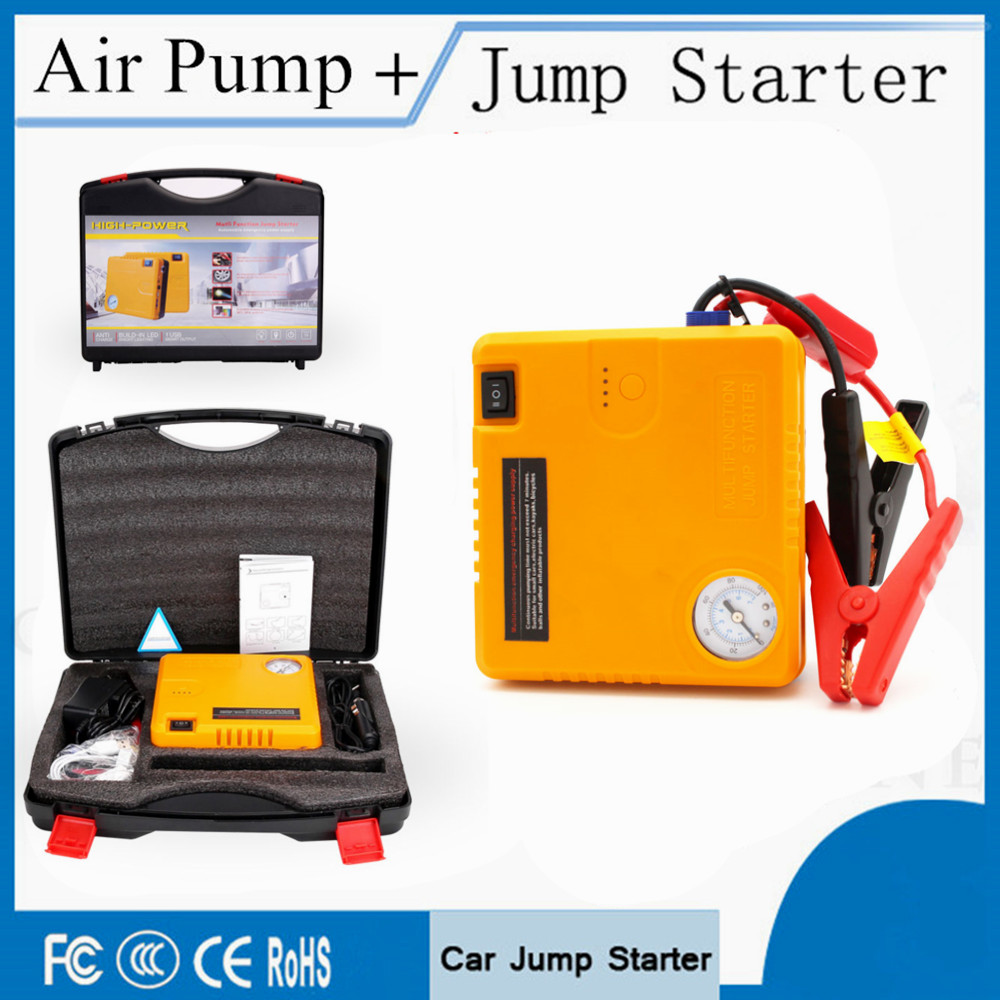 Multi-function 16800mAh Car Jump Starter & Air Pump Portable Power Bank 12V Starting Device Car Starter Charger For Car Battery 13500mah 12v multi function mobile power bank tablets notebook phone ca r auto eps starter emergency start power