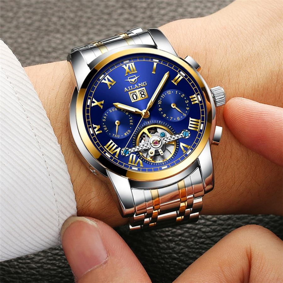Իրական AILANG ապրանքանիշ տղամարդիկ - Տղամարդկանց ժամացույցներ - Լուսանկար 3