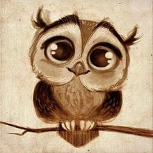5d diy diamond painting cartoon owl partial  s mosaic pictures rhinestones embroidery dimond