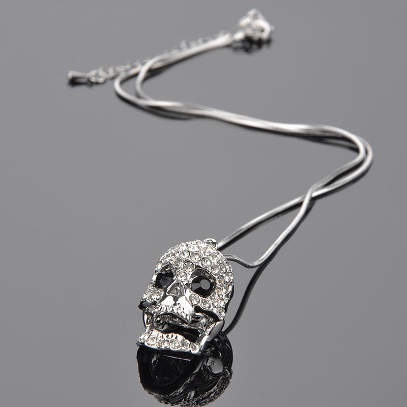 Skull pendant necklace skull jewelry for women crystal pendant skull pendant necklace skull jewelry for women crystal pendant necklace skeleton head necklace rhinestone chain in pendant necklaces from jewelry mozeypictures Images