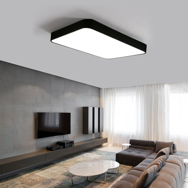 modern LED ceiling lamp Square rectangle style simple sweet indoor The master bedroom light 48w 32w 64w for study bedroom hotel simple style ceiling light wooden porch lamp square ceiling lamp modern single head decorative lamp for balcony corridor study