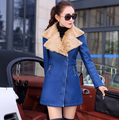 2017 new winter women's big turn-down collar jacket PU leather coat thickening plus velvet outwear long sleeve padde coat F3860