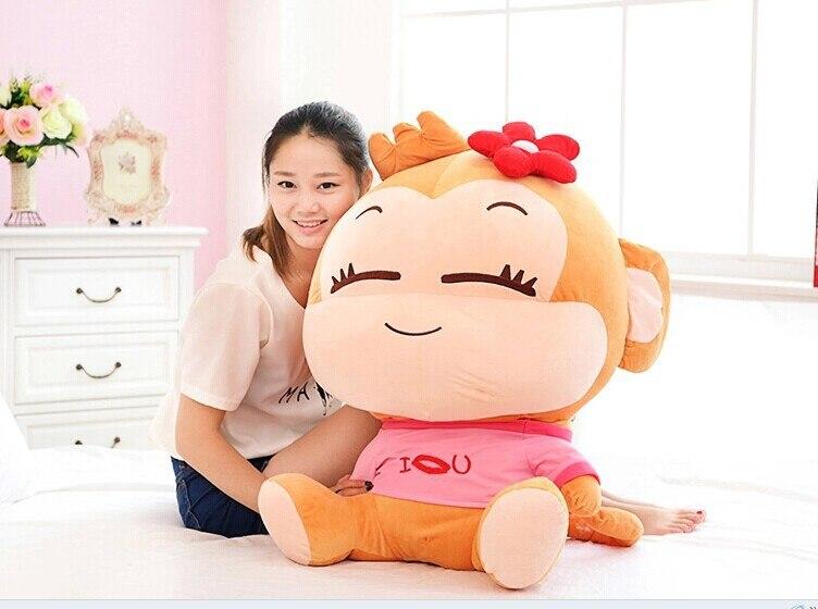 70 cm beau singe en peluche jouet cici singe poupée jeter oreiller cadeau d'anniversaire w6290