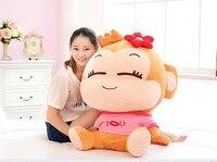 70cm lovely monkey plush toy cici monkey doll throw pillow birthday gift w6290