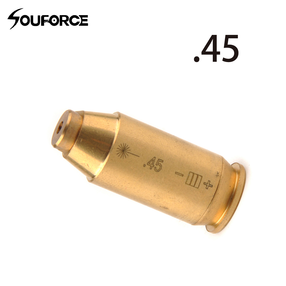Hunting CAL:.45 ACP Red Laser Bore Sight Brass Cartridge Boresighter Free Shipping
