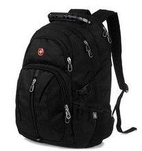 Mode swiss gear rucksack mann reisetasche rucksack schwarz student schultasche männlichen 14 laptop rucksack tasche bagpack bolsos rugtas