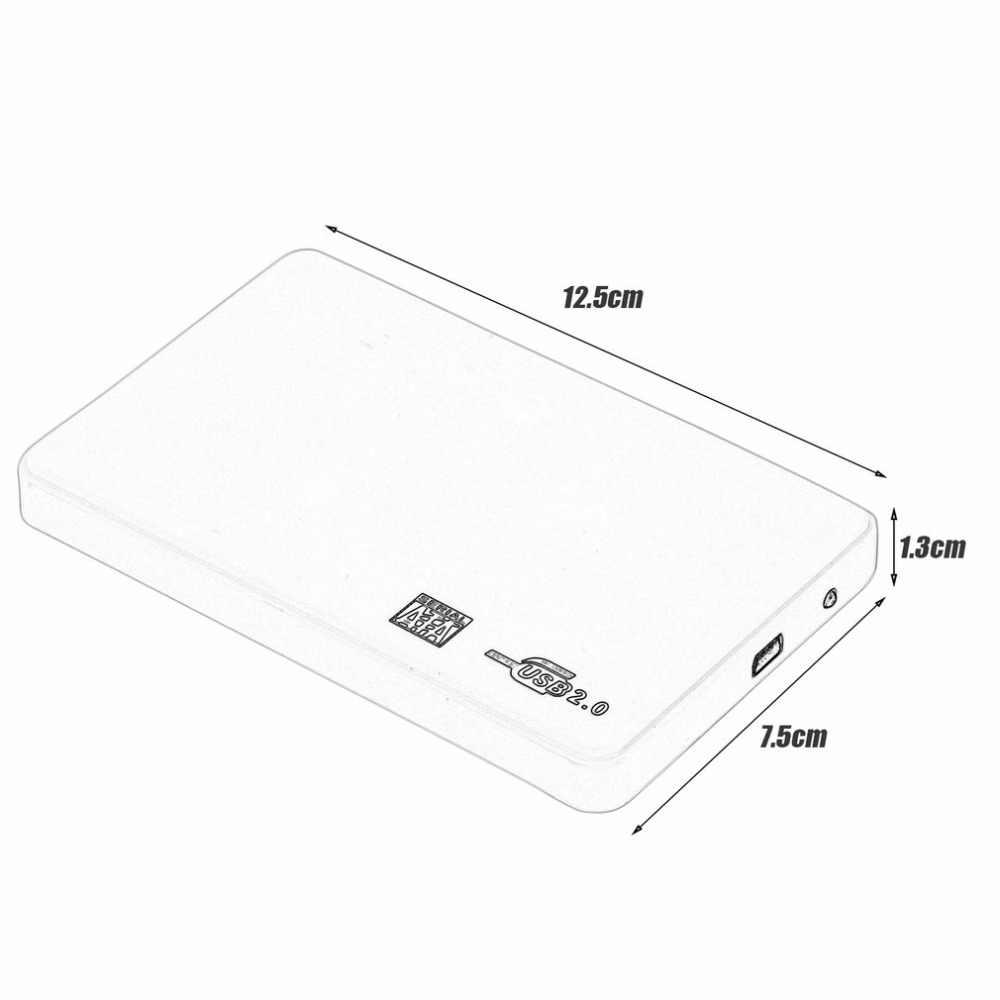 2.5 بوصة USB HDD حالة Sata إلى USB 2.0 قرص صلب SATA الخارجية ضميمة HDD القرص الصلب مربع مع كابل يو اس بي