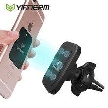 Yianerm más nuevo 6 N50 imán fuerte magnético de aire de ventilación teléfono cerradura del montaje del coche para el iPhone, Samsung, huawei, 4 6 pulgadas teléfono