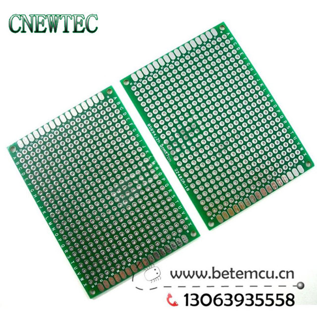 US $47 88 5% OFF|100pcs 5x7 cm Double sided PCB tin plating 2 layer 5cmx7cm  panel Universal Board-in Double-Sided PCB from Electronic Components &