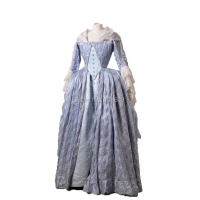 Tailored!Luxs Gold 18th Century Duchess Queen Marie Antoinette Court Victorian Gown Ball Reenactment dresses HL 205