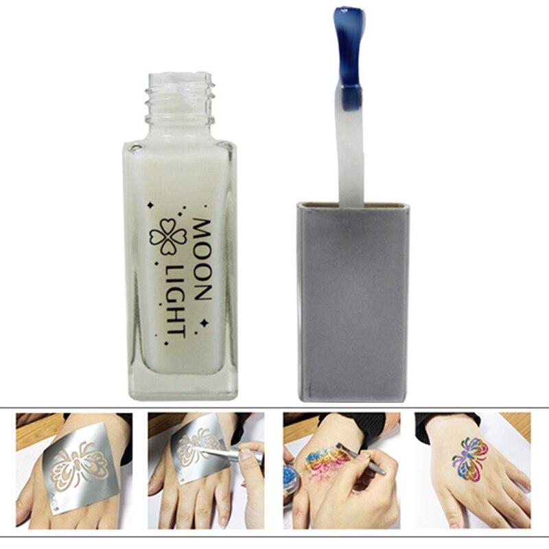 10 ml/Bouteille Non-toxique Glitter Peinture Tatouage Colle Gel Pour Longue Durée Temporaire Tatouage Corps Cosmétiques Beauté outil