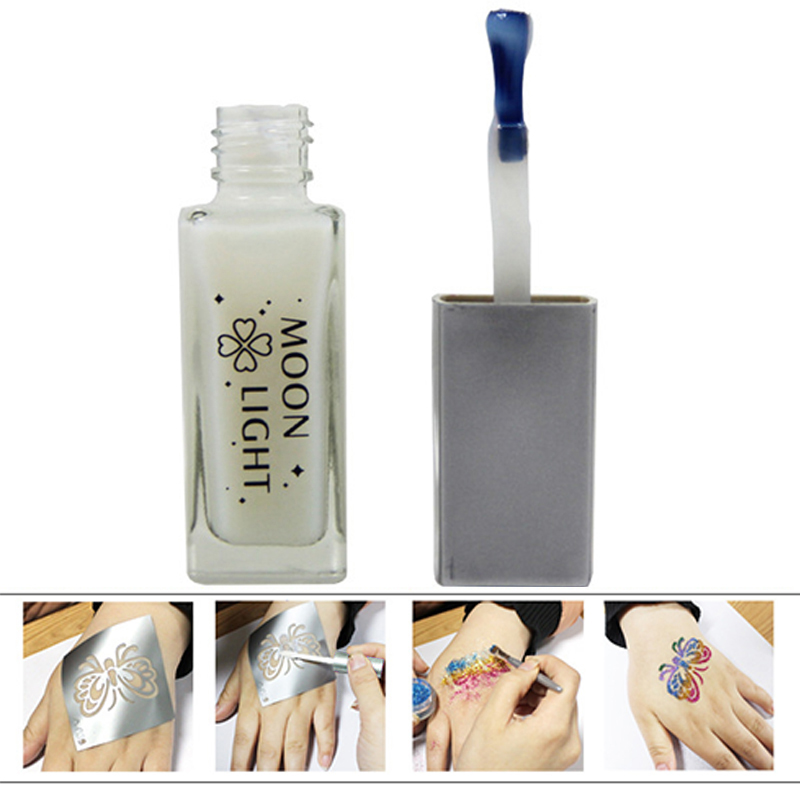 10ml/Bottle Non-toxic Glitter Paint Tattoo Glue Gel For Long Lasting Temporary Tattoo Body Cosmetics Beauty Tool