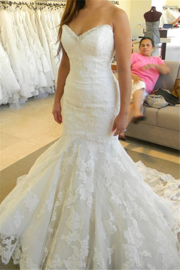 Popular Strapless Mermaid Wedding Dresses with Bling-Buy Cheap ...