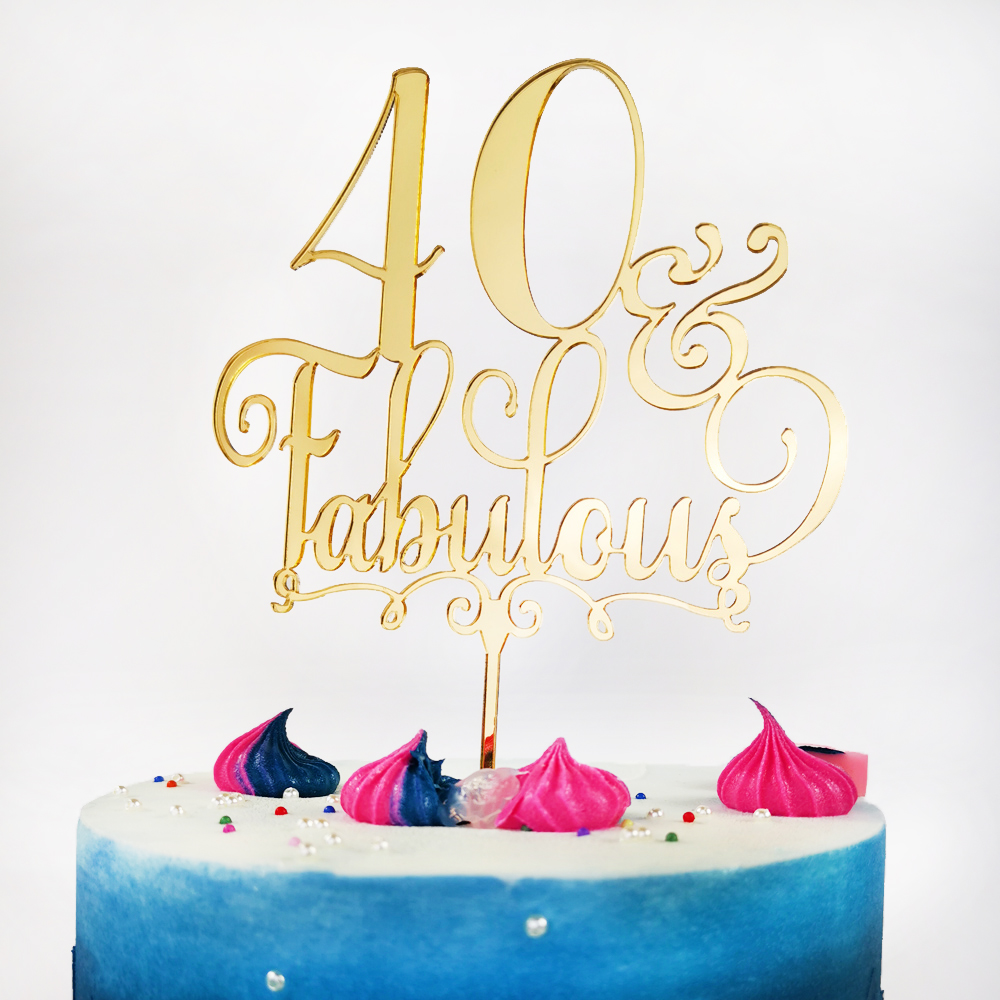 Terrific 40 Fabulous Cake Topper 40Th Fortieth Birthday Party Topper Funny Birthday Cards Online Sheoxdamsfinfo