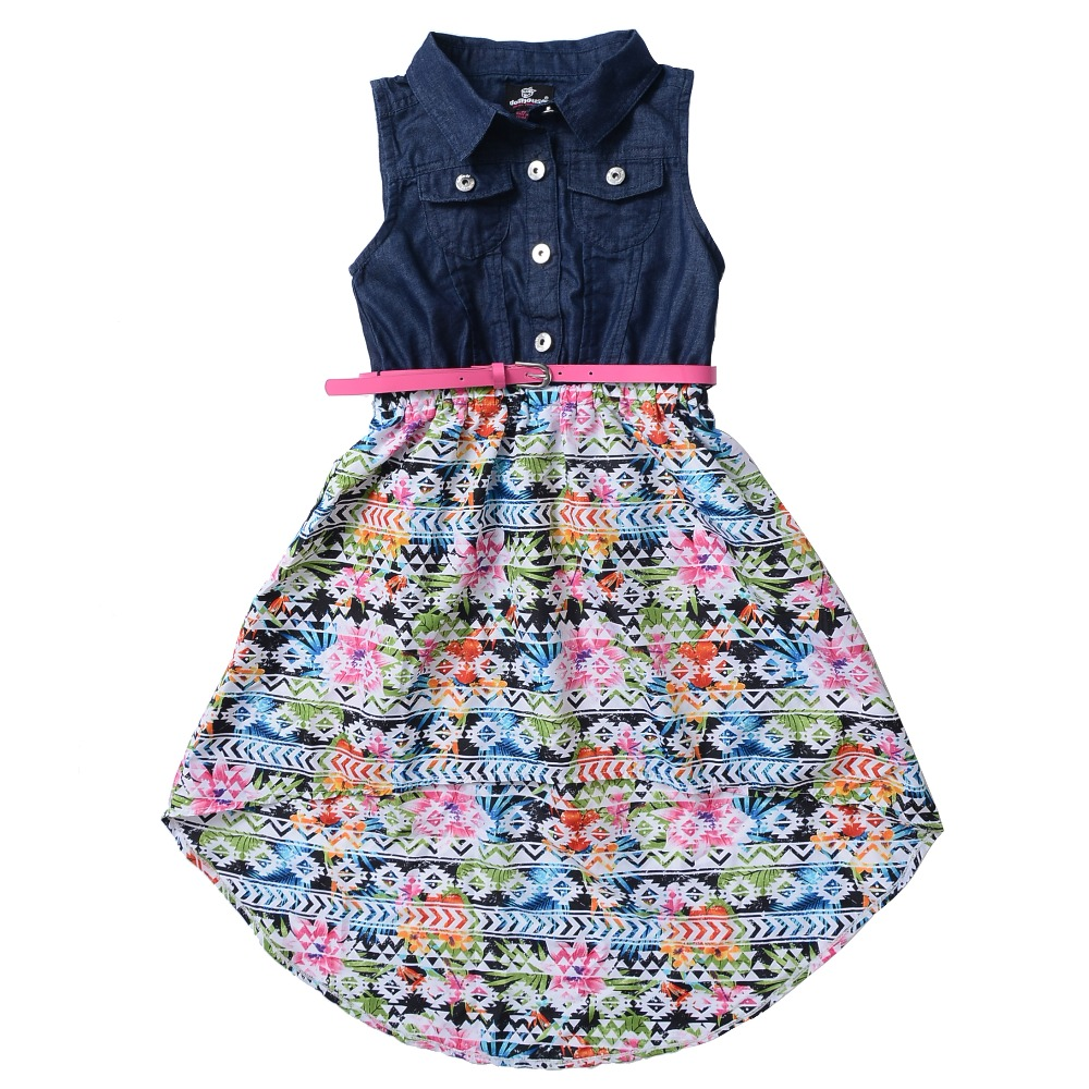 Shirt design for baby girl - Aliexpress Com Buy Baby Girls Cotton Denim Dress Infant Print Chiffon Bottom 2017 New Design Blouse Summer Style Clothes For Children Kids Clothing From
