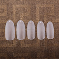CB-02 Almond shape Full cover nail tips long Oval Artificial Acrylic Nail Tips 500pcs/box