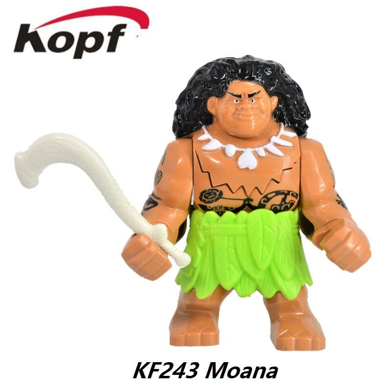 Single Sale Super Heroes Princess Moana Ocean Voyage Classic For Girl Bricks Building Blocks Collection Toys for children KF243 single sale super heroes nya gamma master wu gnea pythor kozu zane ninja 71019 building blocks bricks toys for children pg8070