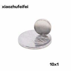 50 Uds. 10*1mm N50 imanes de neodimio súper fuertes NdFeB imanes 10mm * 1mm cilindro redondo hoja permanente