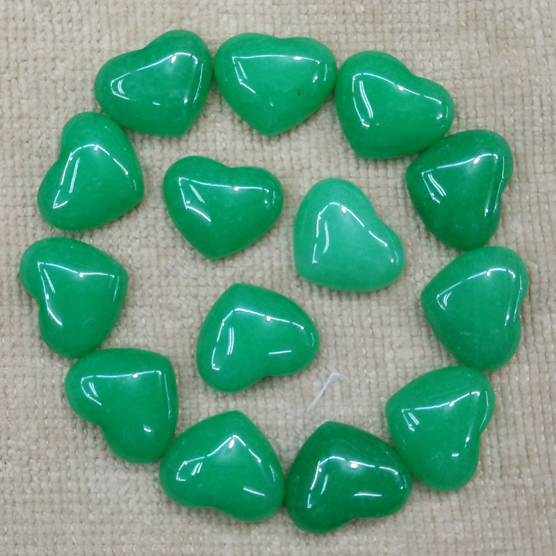 Wholesale 30pcs/lot 2016 good quality malaysian stone heart shape cab cabochons beads for jewelry making 15x18mm free shipping