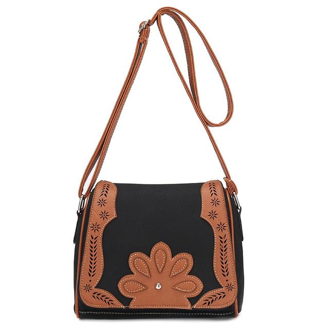 2017 New Arrival hollow out Women Messenger Bags Handbag PU Casual patchwork  Women's Bag Shoulder Bag