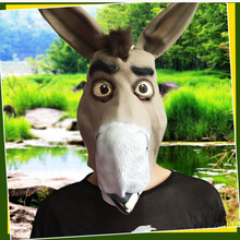 Full Face Cosplay Halloween Party Cosplay Donkey Head Mask Animal Full Head Mask Funny Gift Toy Christmas Party Cosplay Mask hotsale minecraft game cardboard enderman creeper steve mask baby party cosplay cardboard steve heads mask toy for kids gift
