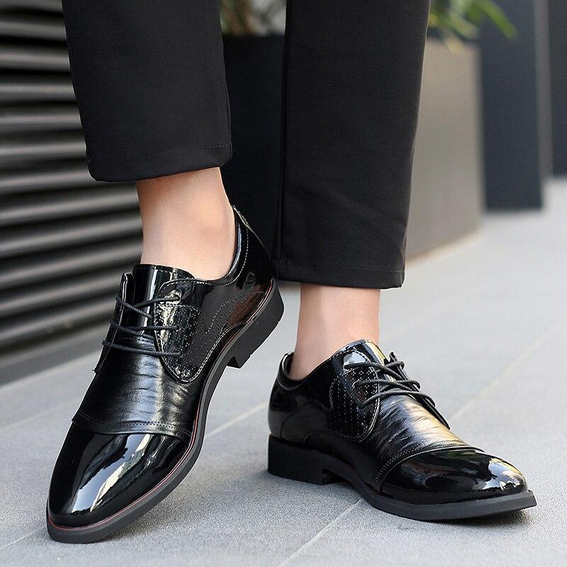 Sapatas Negócio 2019 Homens De Casuais Vestido Nova Ao Oxford Dos Arriva Ar Considerável Moda Sycatree Couro Sapatos Formais Shoes Livre Black Iqdyz
