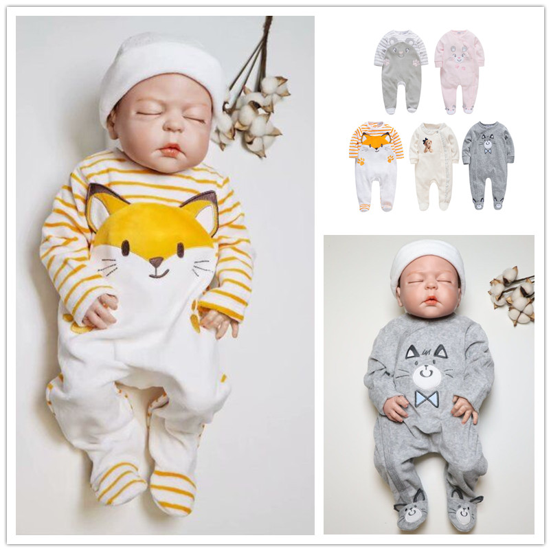Kavkas Baby Girls   Rompers   Winter Long Sleeve Lace Jumpsuit bebes Clothing 0-24M New Born Baby Boy Clothes Pajamas roupa de bebe