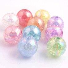Kwoi Vita 10 мм/12 мм/16 мм/20 мм модные ювелирные изделия Качество AAA акриловые трещины AB бусины для изготовления крупных бусин ожерелья!