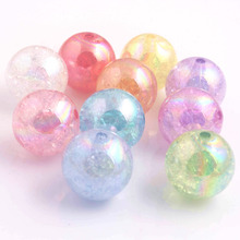 Kwoi Vita 10MM/12MM/16MM/20MM Fashion Jewelry AAA Quality Acrylic Crackle AB Beads For Chunky Beads Necklace Making!
